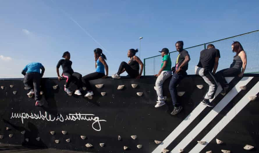 An AdiZone exercise area in Hackney, east London
