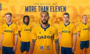 Everton's new away kit for 2020-21, designed by Hummel