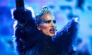 Exuberant … Natalie Portman in Vox Lux.
