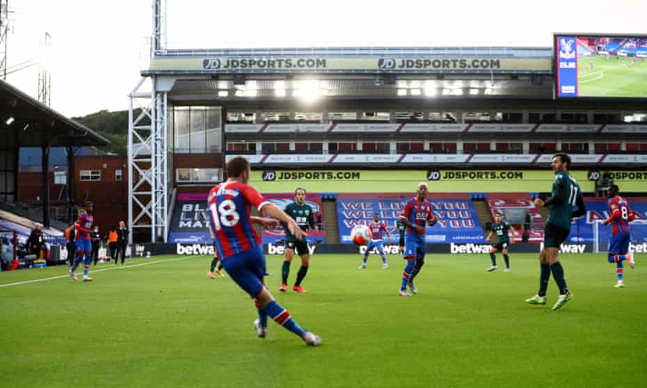 Crystal Palace take on Burnley at an empty Selhurst Park