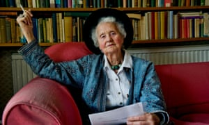 Mary Midgley in 2010. She campaigned for animal welfare and environmental awareness, and against the arms trade.