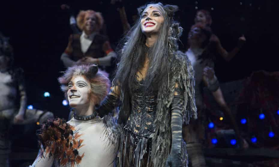 Adam Salter and Nicole Scherzinger in a recent London production of Cats.