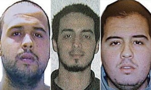 The Brussels attackers: Khalid el-Bakraoui, Najim Laachraou and Ibrahim el-Bakraoui