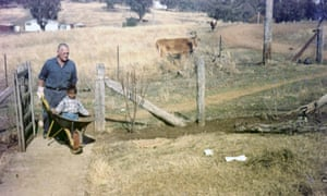 Paul Dutton and his foster dad, Mick O'Connor, at Attunga.