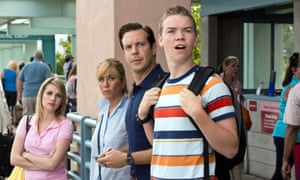 Poulter with, from left, Emma Roberts, Jennifer Aniston and Jason Sudeikis in We're the Millers.
