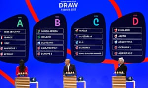 The draw for the 2023 Rugby World Cup in France has been made and England will not be too unhappy.