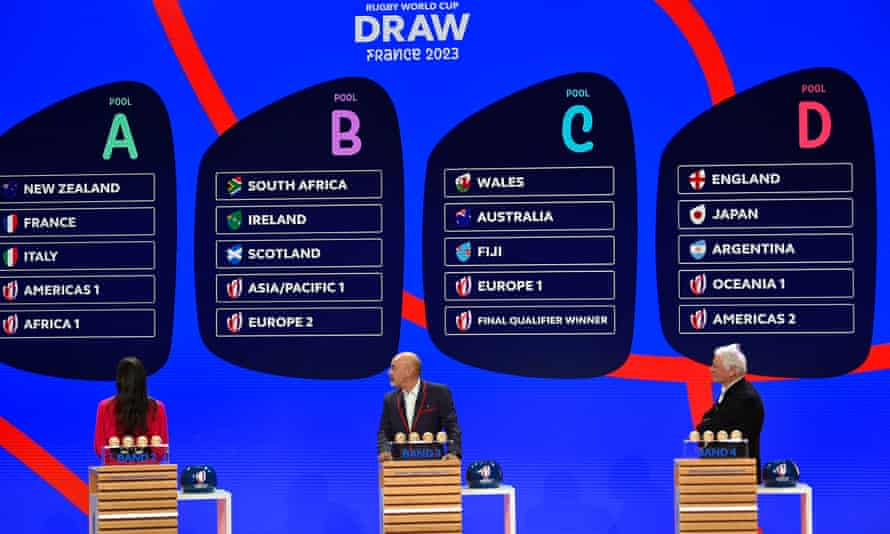 The draw for the 2023 Rugby World Cup took place in Paris on Monday.