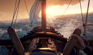 'A playful, friendly and cooperative universe' … Sea of Thieves.