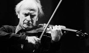 'When can you start?' … Menuhin in Paris in 1980.
