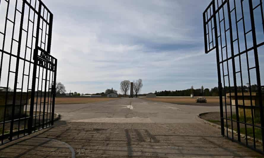 The open gate of the former Nazi concentration camp of Sachsenhausen, north of Berlin.