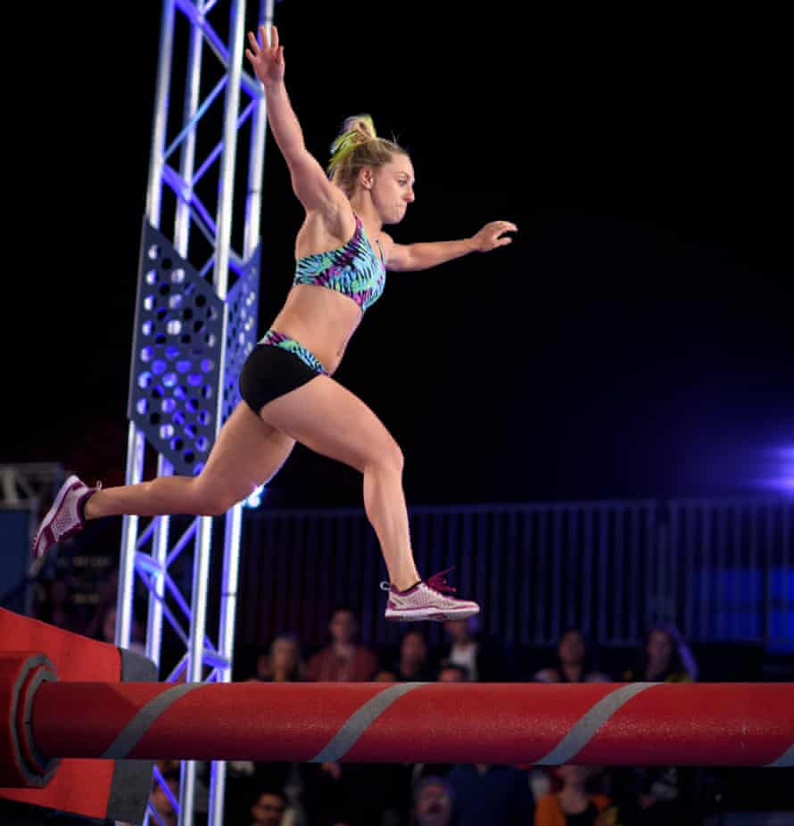 Stephanie Magiros in the first semi-final of Australian Ninja Warrior