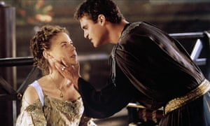Joaquin Phoenix as Commodus, with Connie Nielsen as Lucilla.