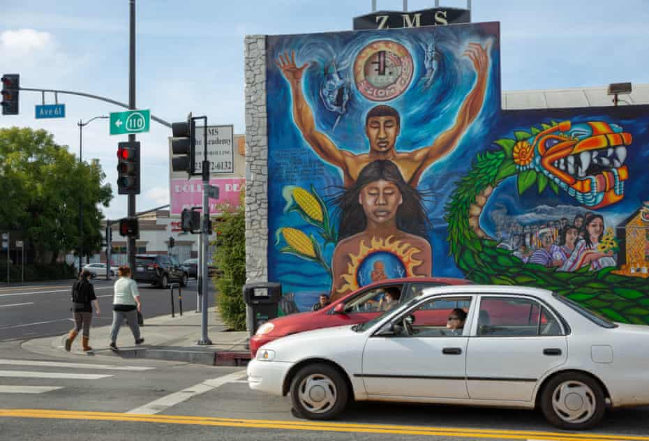 """The mural on North Avenue 61 was painted by John """"Zender"""" Estrada and nine other muralists."""