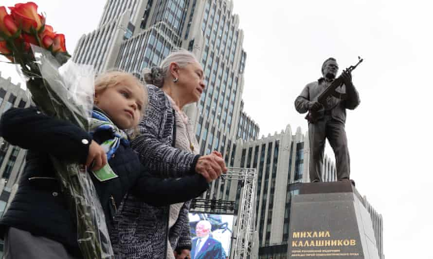 Statue of Mikhail Kalashnikov in unveiled in Moscow.
