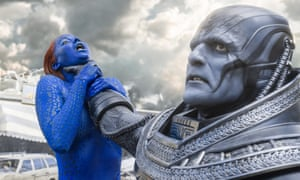 Get a grip: Jennifer Lawrence does battle with Oscar Isaac's Apocalypse in X-Men.