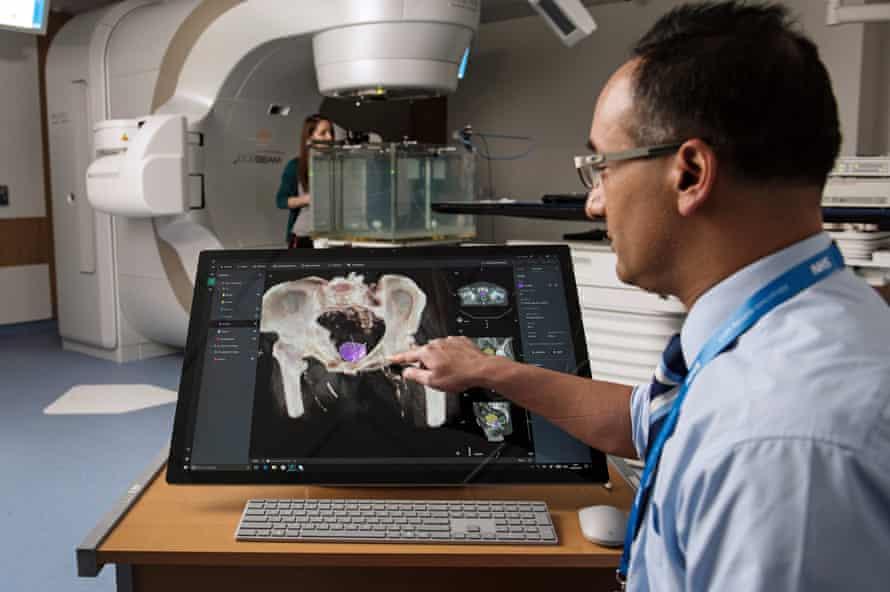 Microsoft Project InnerEye Study of a brain tumour