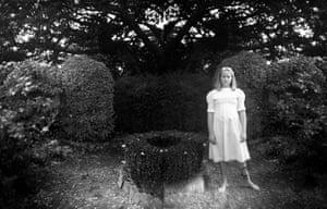 A girl standing in the garden