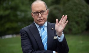 Trump's chief economic adviser Larry Kudlow, a former free trader who now follows the official line.