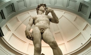 Michelangelo's David in the Galleria Dell'Accademia, Florence.