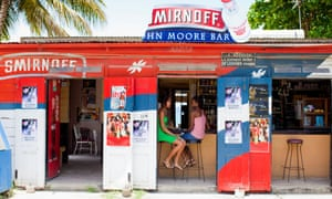 John Moore Bar; one of many rum shops on the island