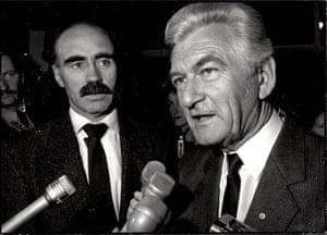 Warren Snowdon (left) with Bob Hawke.