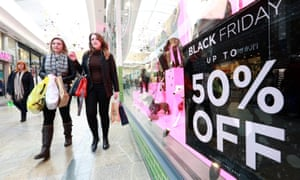 Shoppers in Southampton on Black Friday