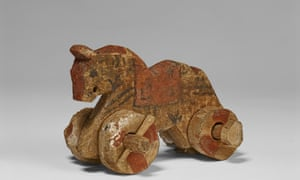Mesmerising … painted wooden horse-toy on wheels, Egypt, Akhmim, first-third century AD.
