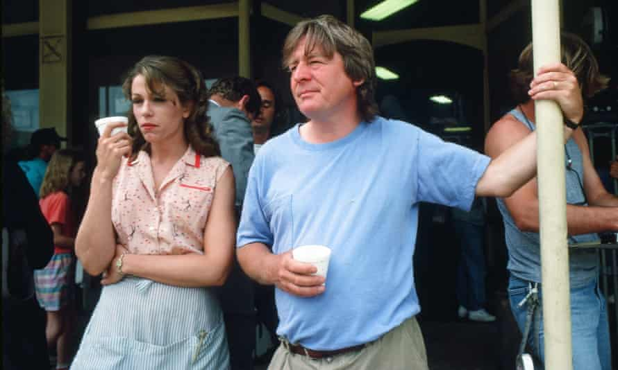 With the late Alan Parker on the set of Mississippi Burning.
