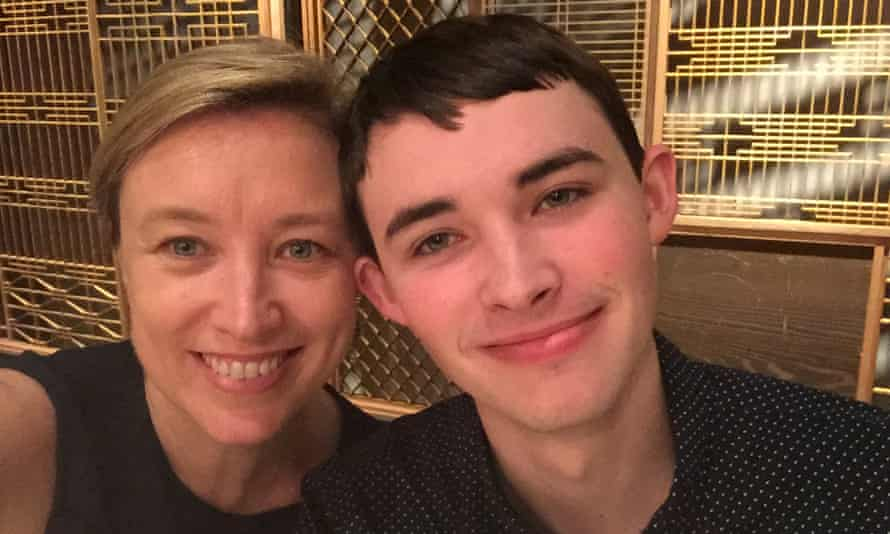 Nicole Rogerson with her 21-year-old son Jack