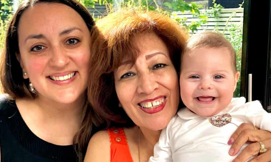 Brenda Villarreal with her mother, Antonieta, and daughter, Matilda. 'Nobody has sent me any urgent emails or messages. It's very respected.'