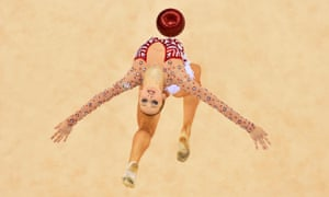 Marina Durunda of Azerbaijan competes in the Rhythmic Gymnastics Individual All-Around Final during day seven of the Baku 2015 European Games