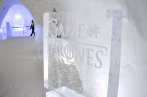 A Game of Thrones sign greets hotel guests