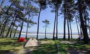 Camping Islas Cies tents