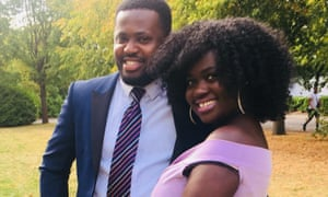 Mary Agyeiwaa Agyapong and her husband, Ernest Boateng. Boateng said he didn't want his wife's 'death to be in vain'.