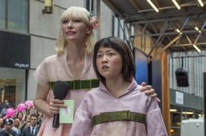 Tilda Swinton and Seo-Hyun Ahn in Okja.