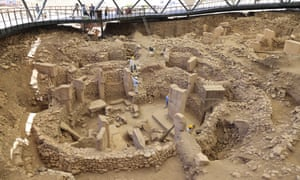 Part of the excavations at Göbekli Tepe in southeastern Turkey