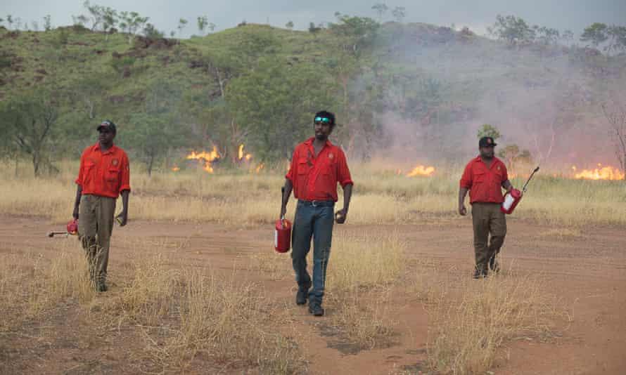 "Kija Rangers conduct prescribed or ""cool"" burning in the East Kimberley."