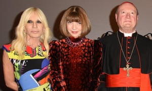 Donatella Versace, Anna Wintour and Cardinal Gianfranco Ravasi.
