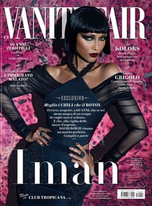 Iman on the cover of Vanity Fair Italia June 2015.