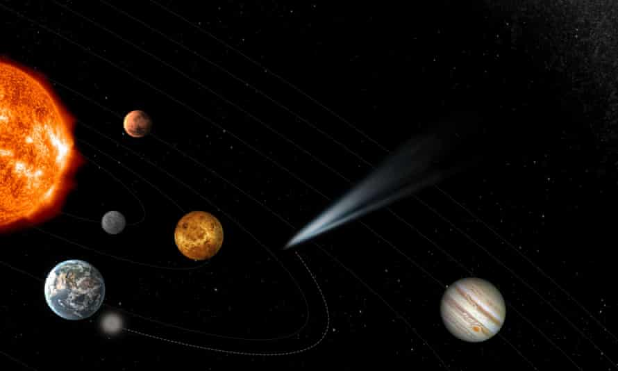 European Space Agency image depicting the concept for the upcoming mission to chase down a comet
