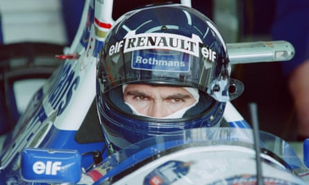 Damon Hill during the first practise session on Imola's track for the infamous 1994 San Marino Grand Prix.