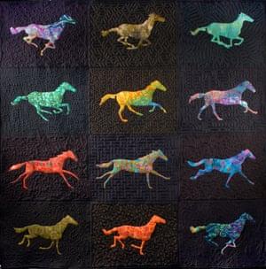 Muybridge Horses Quilt by Nina Paley, Theodore Gray, Christopher Carlson