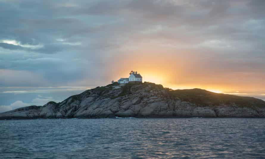 Light fantastic: the island at 1am.