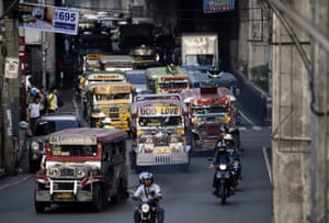 The jeepneys are a cultural symbol of Manila.