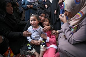 The wife and two daughters of 28-year-old Jihad Abu Jamous