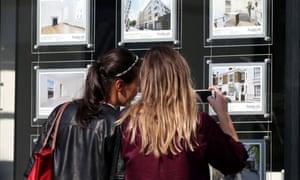 An estate agent's window
