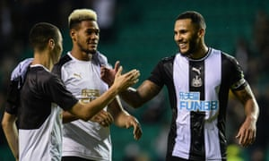 Key Magpies for the season: Jamaal Lascelles, with Miguel Almirón and Joelinton.
