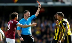 Chris Kavanagh's  dismissal of Jose Holebas has been rescinded