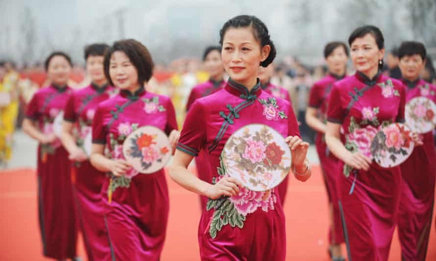 A performance in Bozhou, Anhui province of China, on International Women's Day.