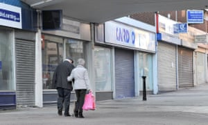 Closed high street shops.